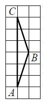 На клетчатой бумаге с размером клетки ... изображён треугольник ....