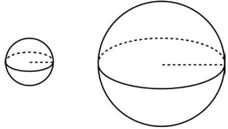 Дано два шара. Радиус первого шара в ... раз больше радиуса второго. Во сколько раз площадь поверхности первого шара больше площади поверхности второго?