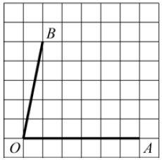 На клетчатой бумаге с размером клетки ... изображён угол. Найдите тангенс этого угла.